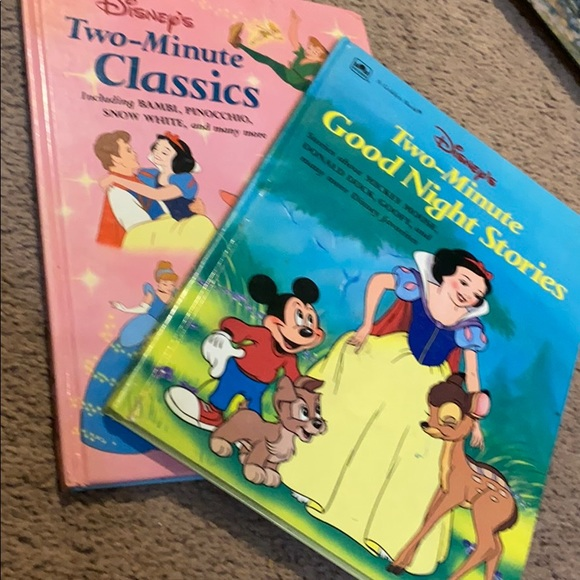 Two vintage Disney hard cover books